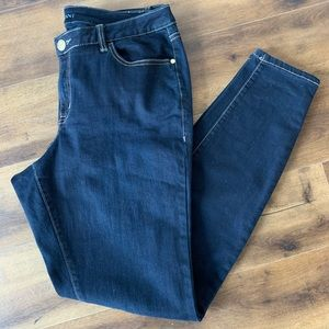 Lane Bryant skinny dark wash jeans sz 14 Long